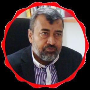 Akram Raza with border